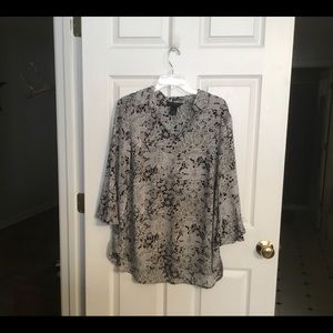Black and white blouse new without tag